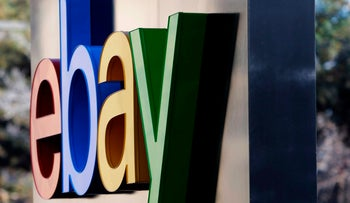 FILE PHOTO: The signage at the entrance to eBay's headquarters in San Jose, California, January 14, 2015.