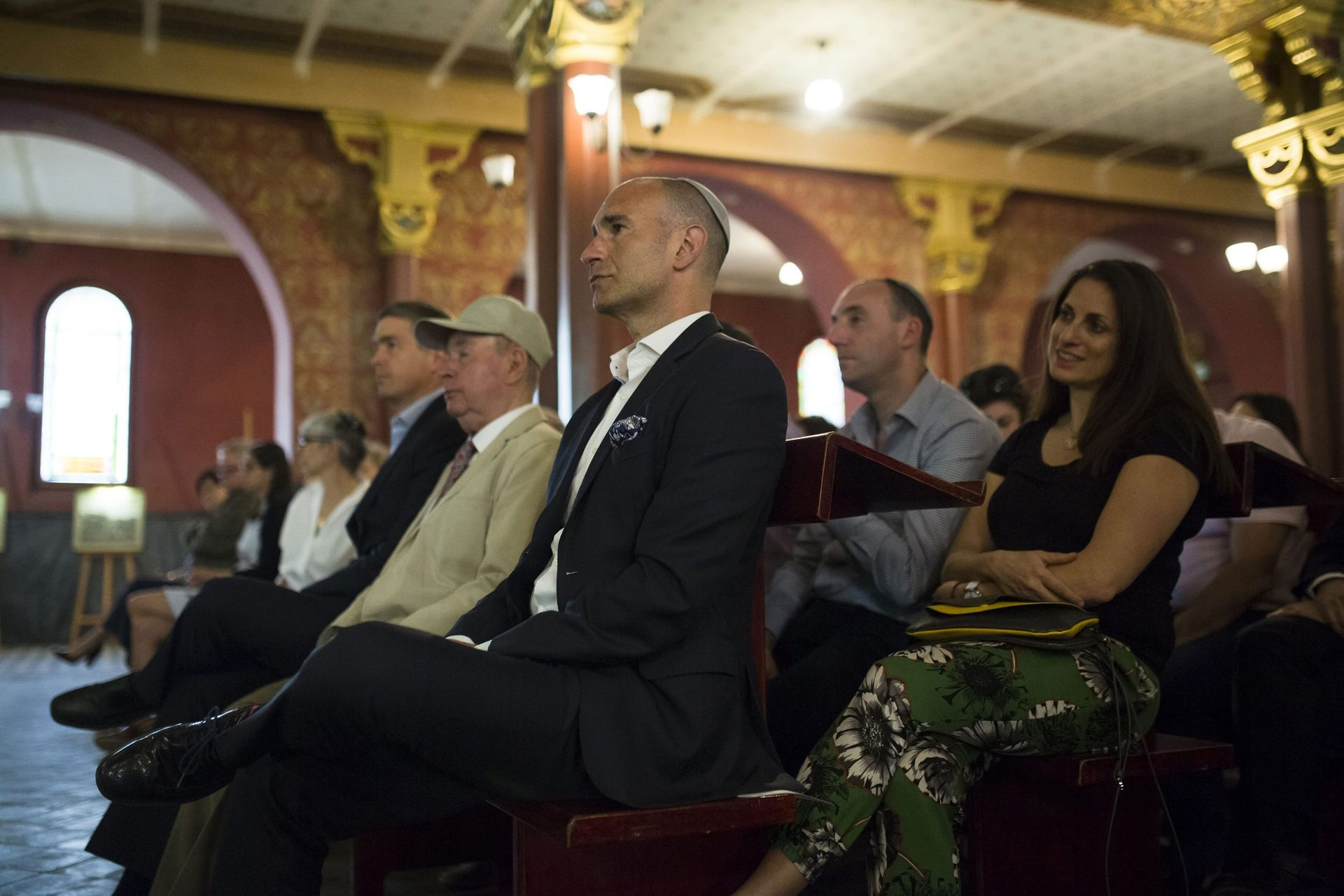 Jonathan Ornstein, director of the JCC Krakow, attending the institution's 10th anniversary party at Tempel Synagogue, April 22, 2018.