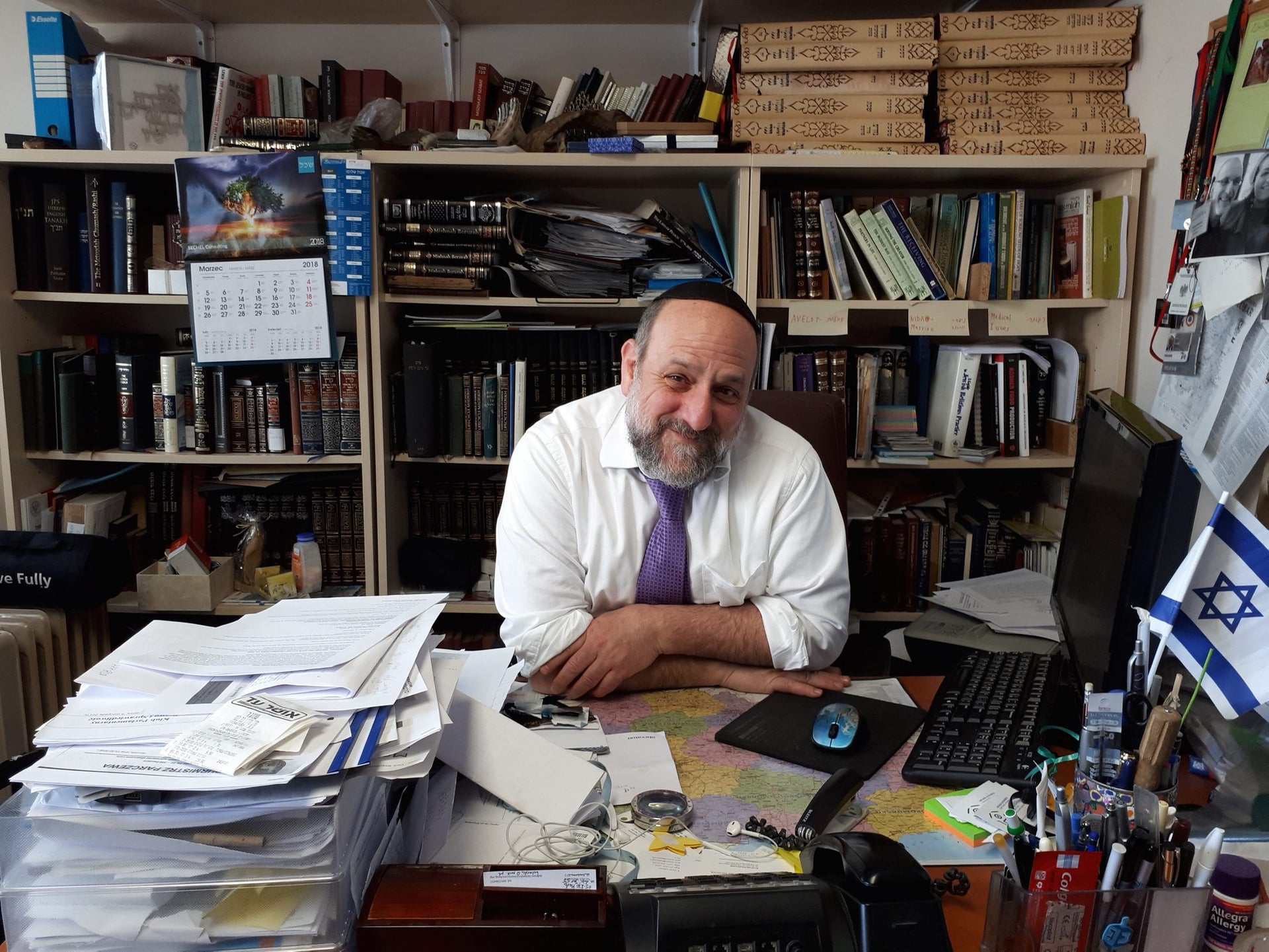 """Michael Schudrich, the chief rabbi of Poland. """"The social taboo that had existed since 1989 about saying anti-Semitic things was suddenly lifted."""""""