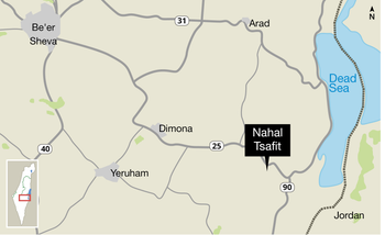 A map of the Nahal Tsafit area.