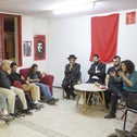 The recent meeting at Jerusalem's Hadash headquarters between Eda Haredit members and secular, conscientious-objector activists.