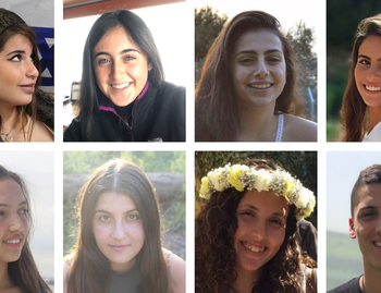 Ella Or, Gali Balel, Agam Levi, Shani Samir, Adi Ra'anan, Yael Sadan, Maayan Barhum, Romi Cohen and Tzur Alfi were killed in a flash flood April 27, 2018