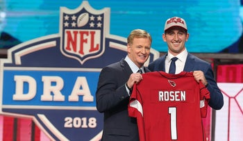 Josh Rosen is selected as the number eleven overall pick to the Arizona Cardinals in the first round of the 2018 NFL Draft on April 26, 2018 in Arlington, Texas.