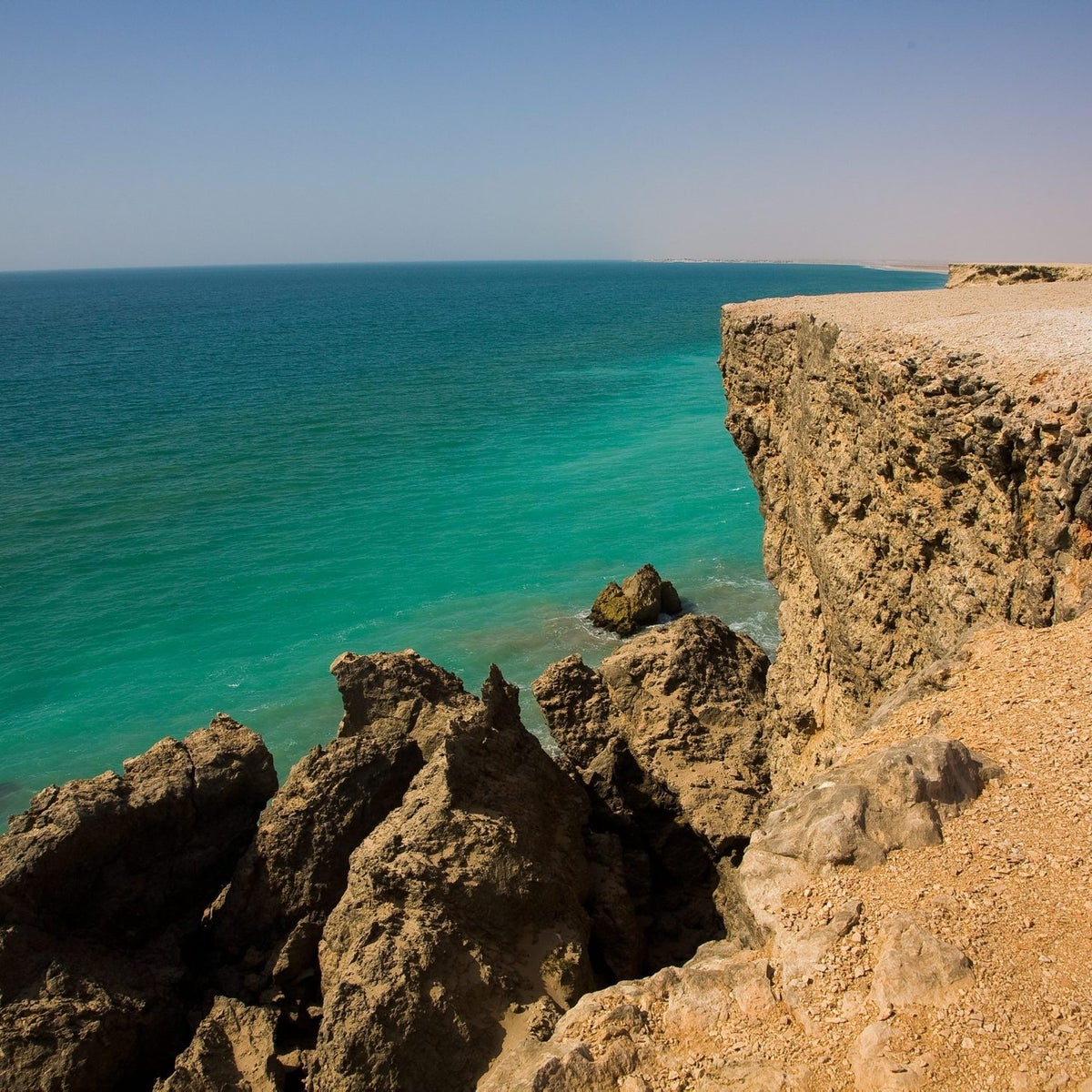 The beautiful sea off Oman - where the waters turn out to be particularly prone to deoxygenization.