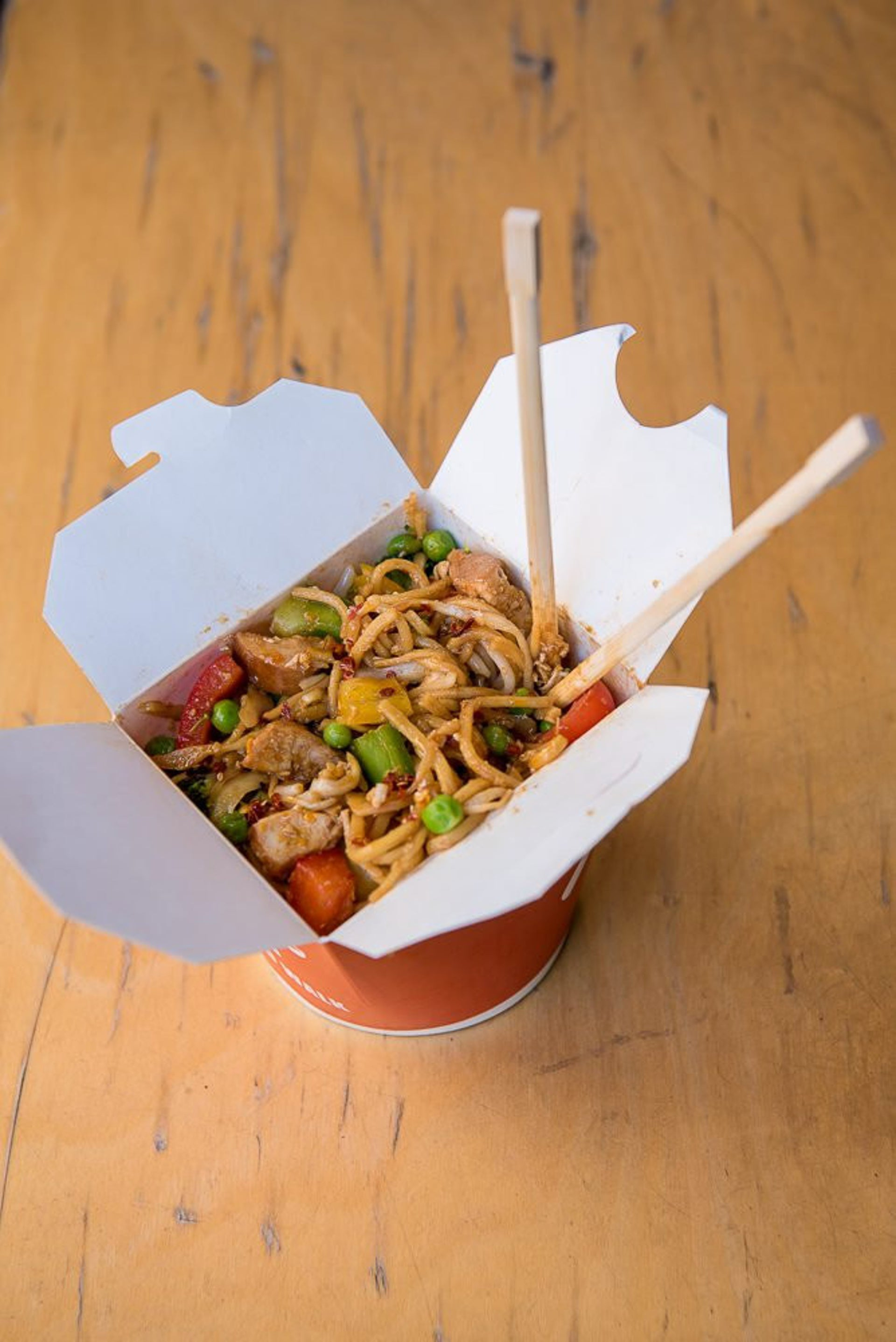A noodles dish from Wok to Walk. Prepare to queue.