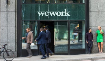 File photo: WeWork's London office space.