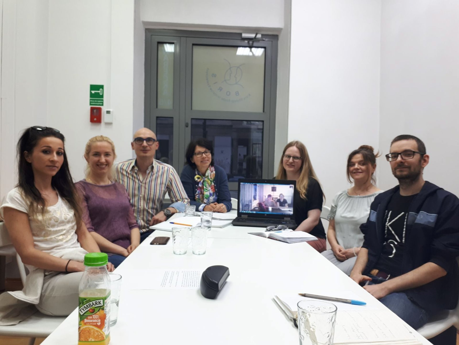 A conversion class run by the Progressive movement in Warsaw, with two people participating via Skype from Lublin.