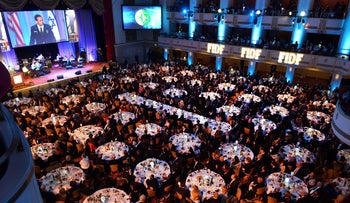 A Friends of Israel Defense Forces gala in 2015.