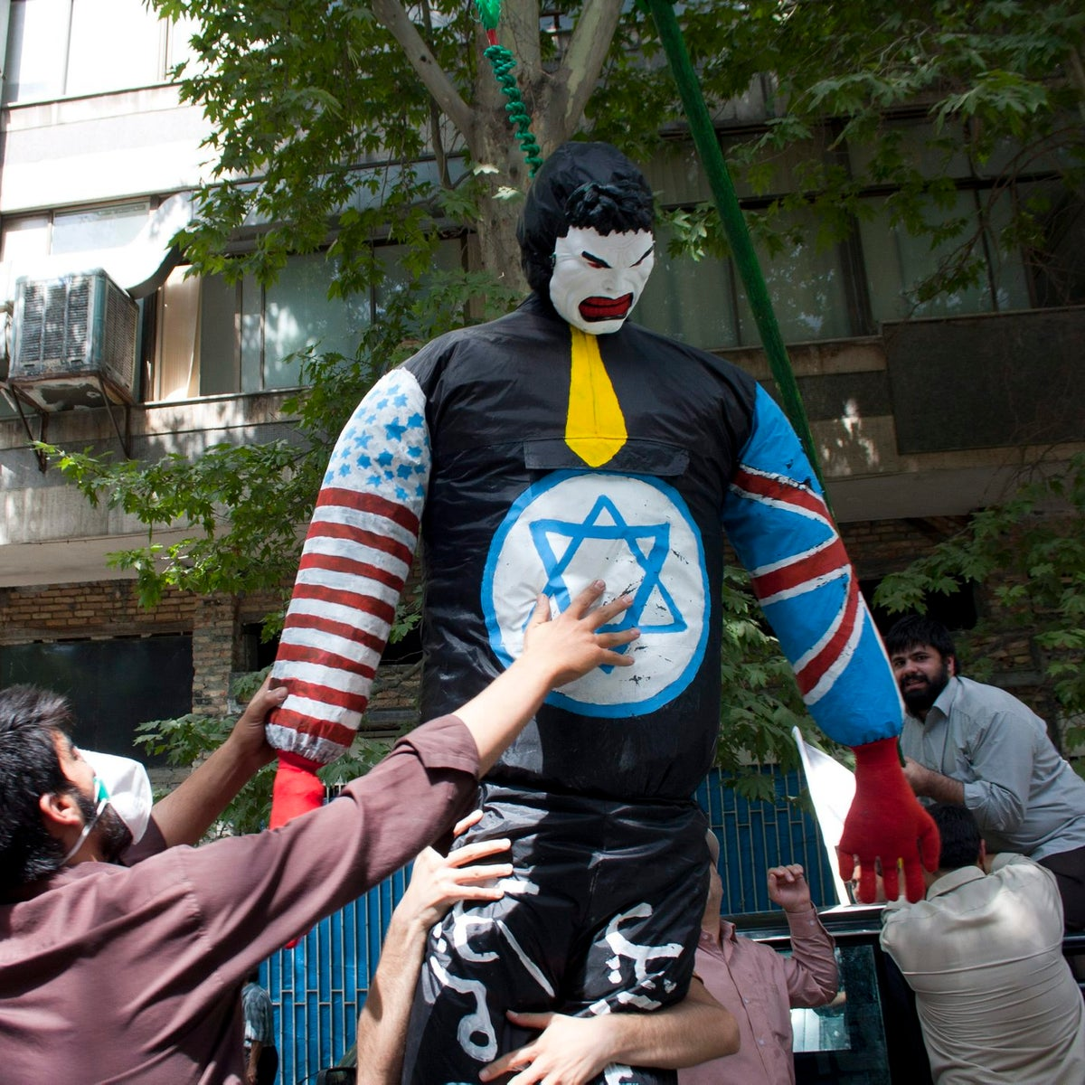 The Al-Quds Day rally in support of the Palestinians in Tehran, July 2014.