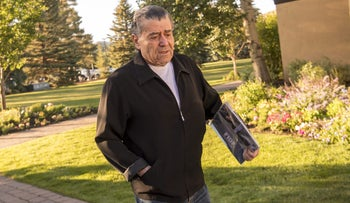 Haim Saban, then chairman and chief executive officer of Saban Capital Group Inc., arrives to the Allen & Co. Media and Technology Conference in Sun Valley, Idaho, U.S., July 2016