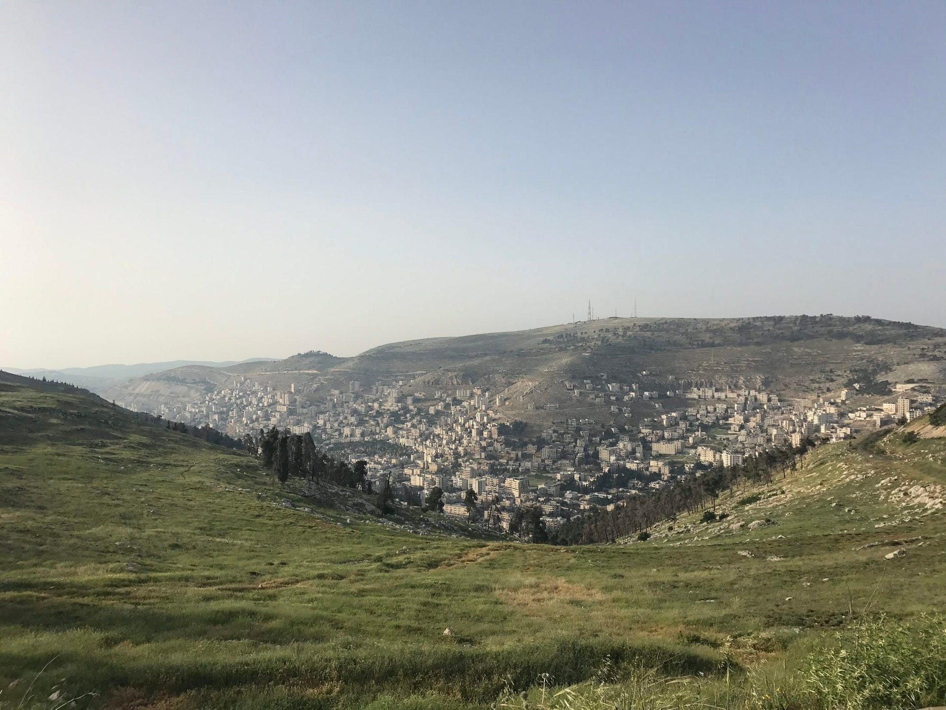 The view of Nablus from Mount Gerizim.