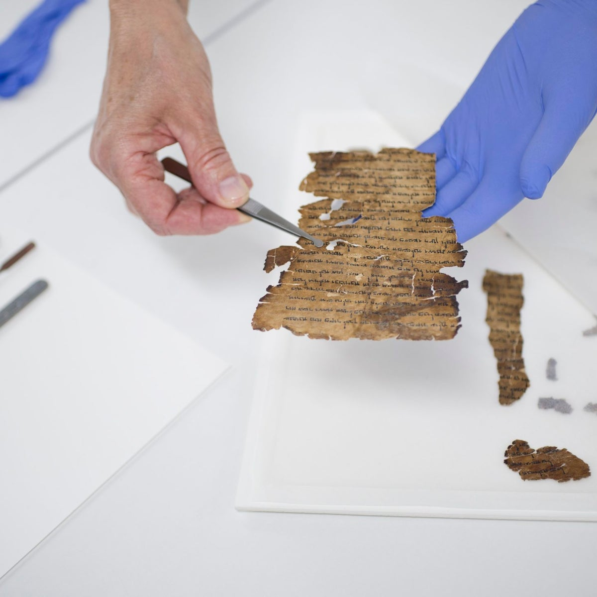 Conserving the scrolls at the Dead Sea Scrolls lab of the IAA
