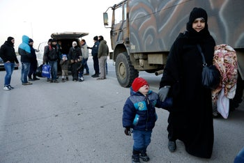 Syrian refugees and migrants at the Greek-Turkish border in January 2016. The UN refugee agency says there are now 22.5 million refugees in the world.