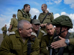 IDF Chief of Staff Gadi Eisenkot visits a Golani brigade, April 7, 2016.