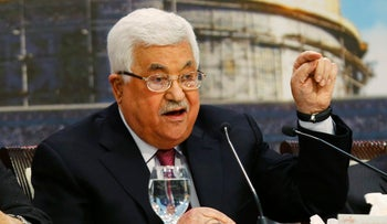 Palestinian President Mahmoud Abbas, April 30, 2018.