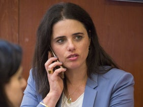Justice Minister Ayelet Shaked on May 4, 2018.