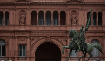FILE PHOTO: The Casa Rosada, the Argentine presidential palace, stands in Buenos Aires, Argentina, July 30, 2015.