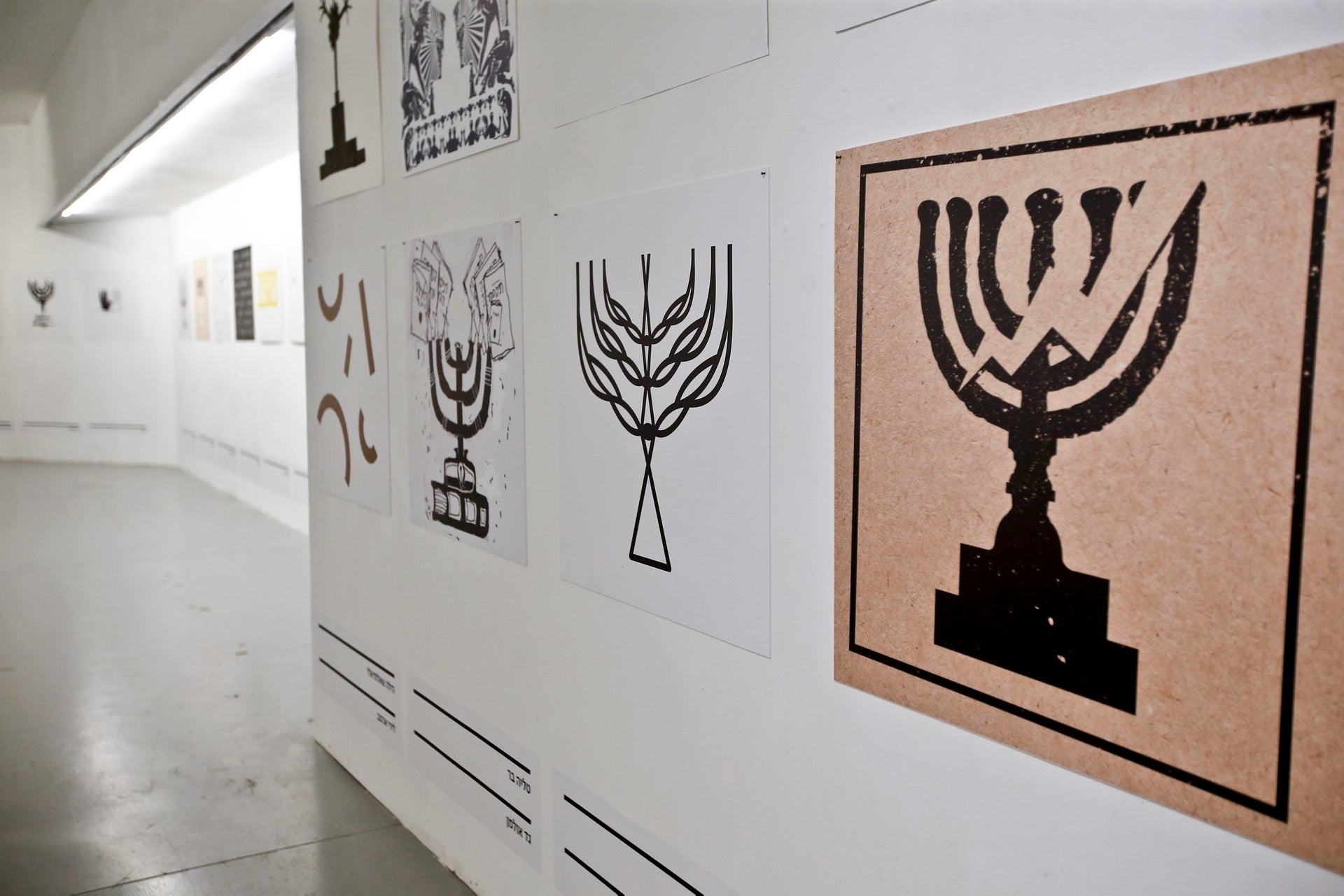 """Designs featured in the """"490 Candelabrum Branches"""" exhibition."""