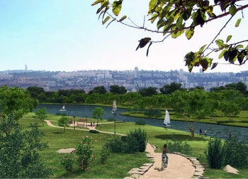 An image of the planned park in Haifa