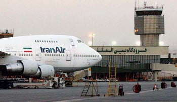 A Boeing 747 of the state carrier IranAir is seen at Mehrabad International Airport in Tehran in 2003