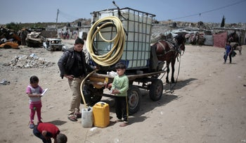 Gazans go to great lengths to get water during an ongoing water crisis.