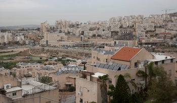 A view of the West Bank settlement of Modi'in Illit, February 5, 2018.
