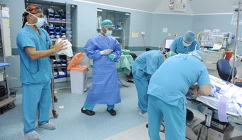 File photo: Surgeons at Galilee Medical Center in 2017.