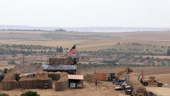 U.S. forces set up a new base in Manbij, May 8, 2018.