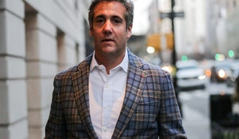 Trump's personal lawyer Michael Cohen exits a hotel in New York City, April 13, 2018.