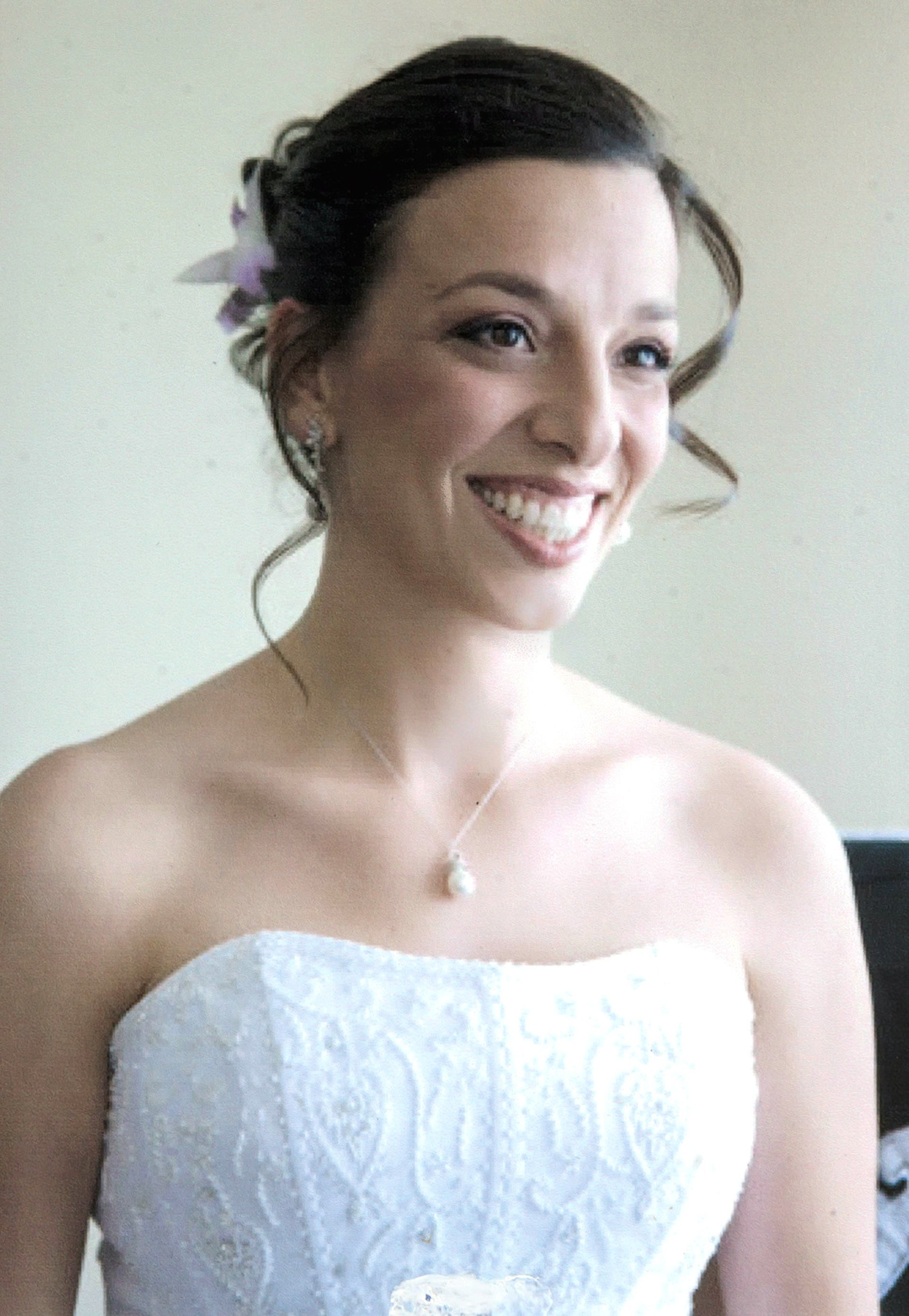 Sharon Stern on her wedding day.