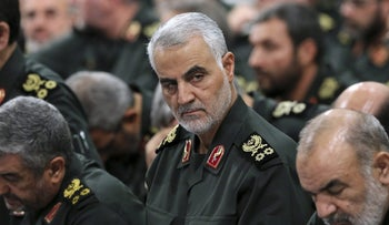 Qassem Soleimani, the leader of Iran's Quds Force, in 2017.