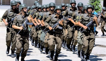 File photo: Palestinian Authority security forces in the West Bank city of Jenin.