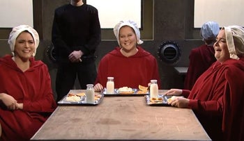 Amy Schumer's 'Sex and the City' meets 'the Handmaid's Tale' on 'SNL'