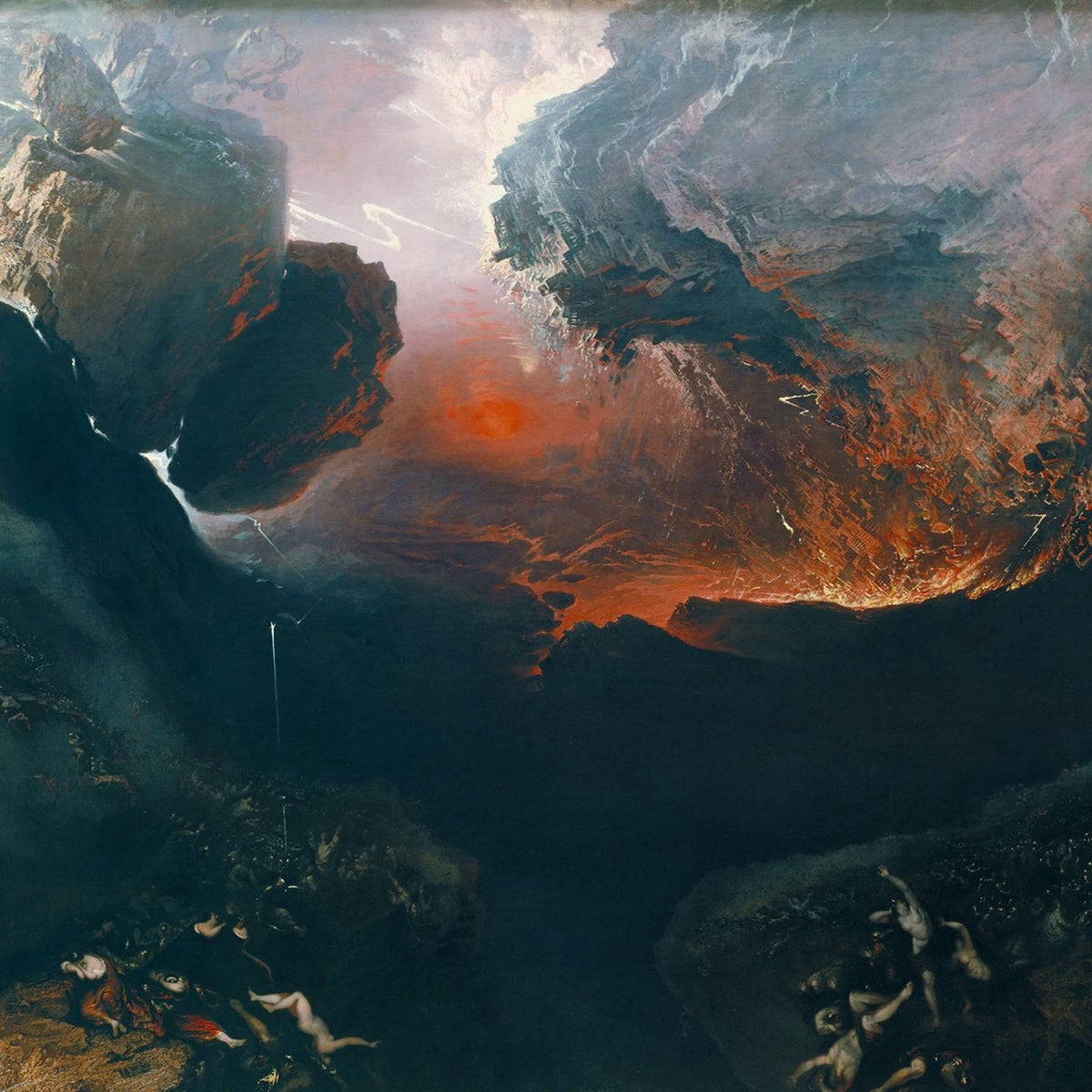 John Martin - The Great Day of His Wrath,circa 1851