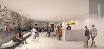 Artist's rendition of the Tower of David Museum after renovations.