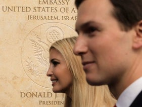 U.S. President Donald Trump's daughter Ivanka, and White House senior adviser Jared Kushner attend the opening ceremony of the new U.S. Embassy in Jerusalem, Monday, May 14, 2018