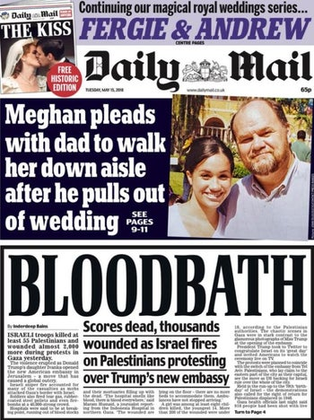 Daily Mail front page, May 15, 2018