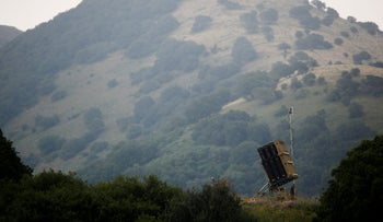 An Iron Dome anti-missile system can be seen near the Israeli side of the border with Syria in the Golan Heights, Israel May 9, 2018.