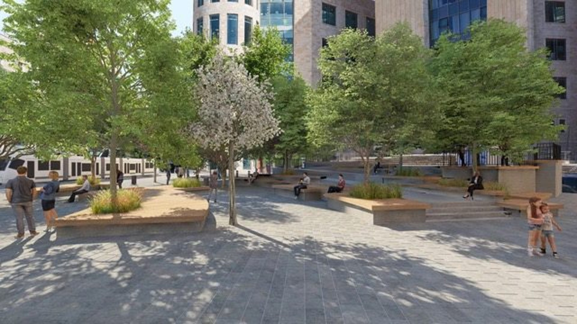Simulation of the renewed Zion Square.