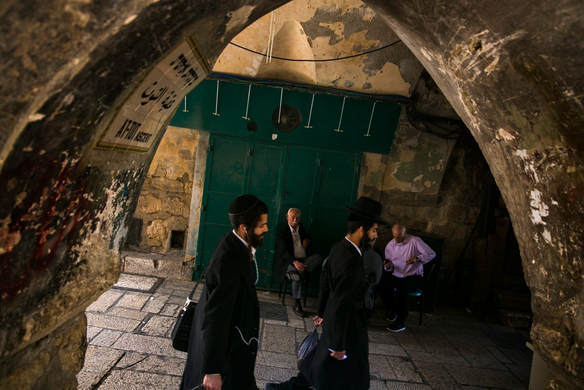 The old city in Jerusalem. Jewish managers and employees often demonstrate solidarity with Palestinian workers.