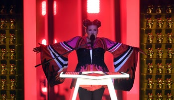 Netta Barzlai at the finals of the Eurovision song contest
