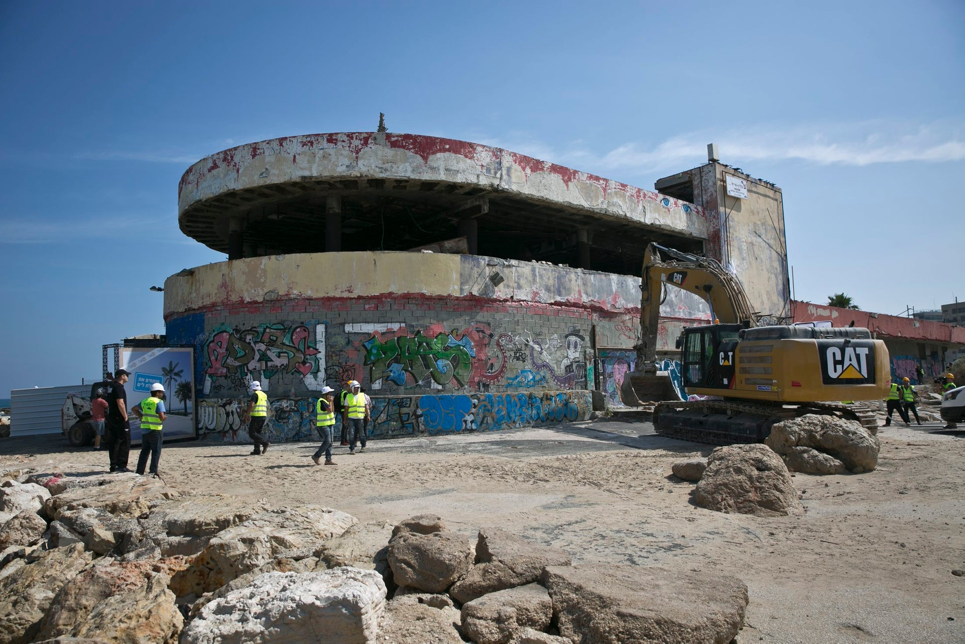 Tel Aviv's Dolphinarium, the site of a 2001 suicide bombing, is being demolished. Sky-rises and a recreation center will take its place.