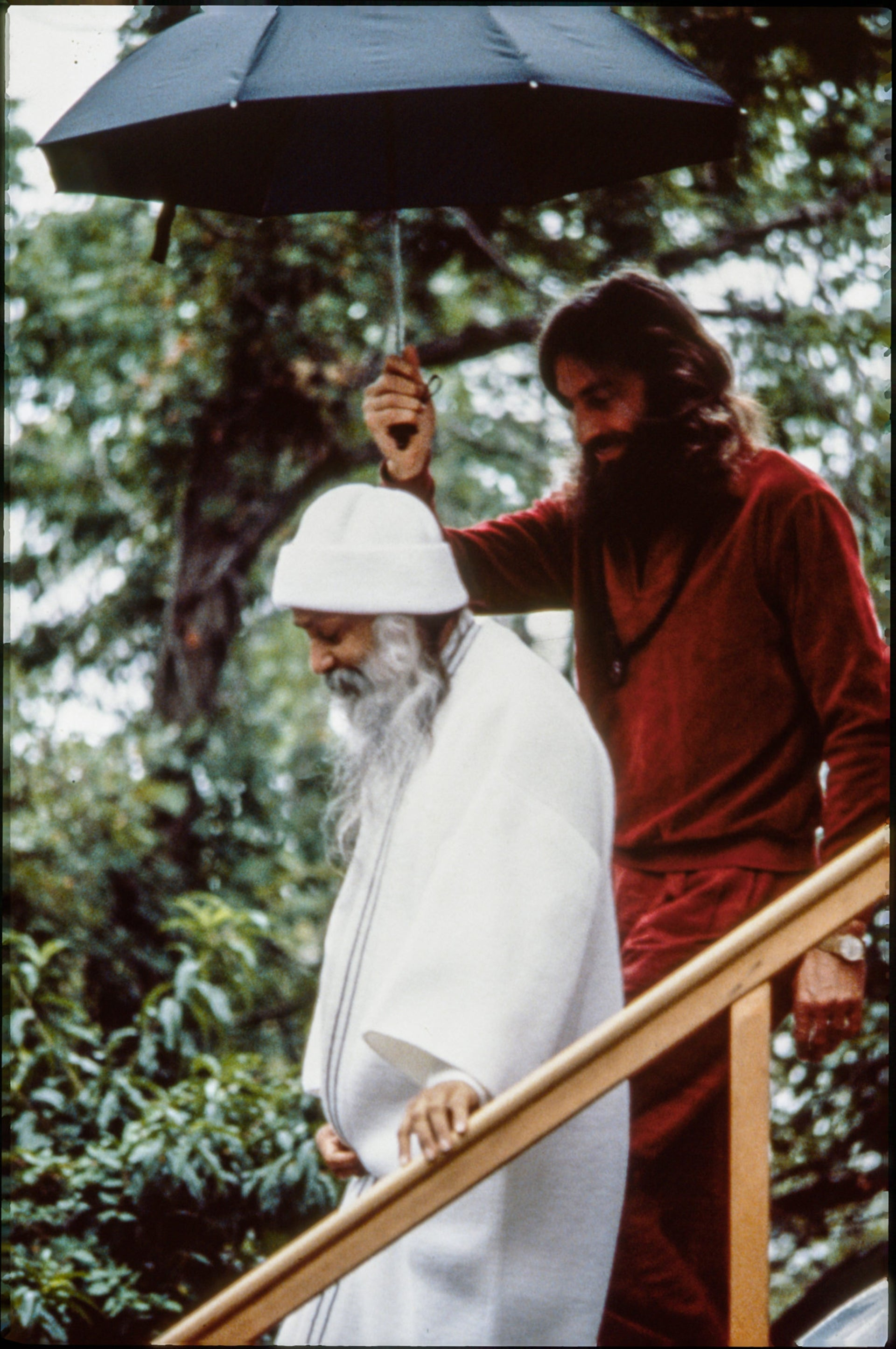 "Osho and his personal physician Dr. John Andrews (who at the time went by the name ""Swami Deva Raj"")."