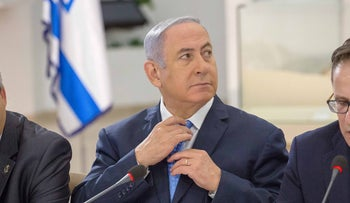 Prime Minister Benjamin Netanyahu at a cabinet meeting in May 2018.