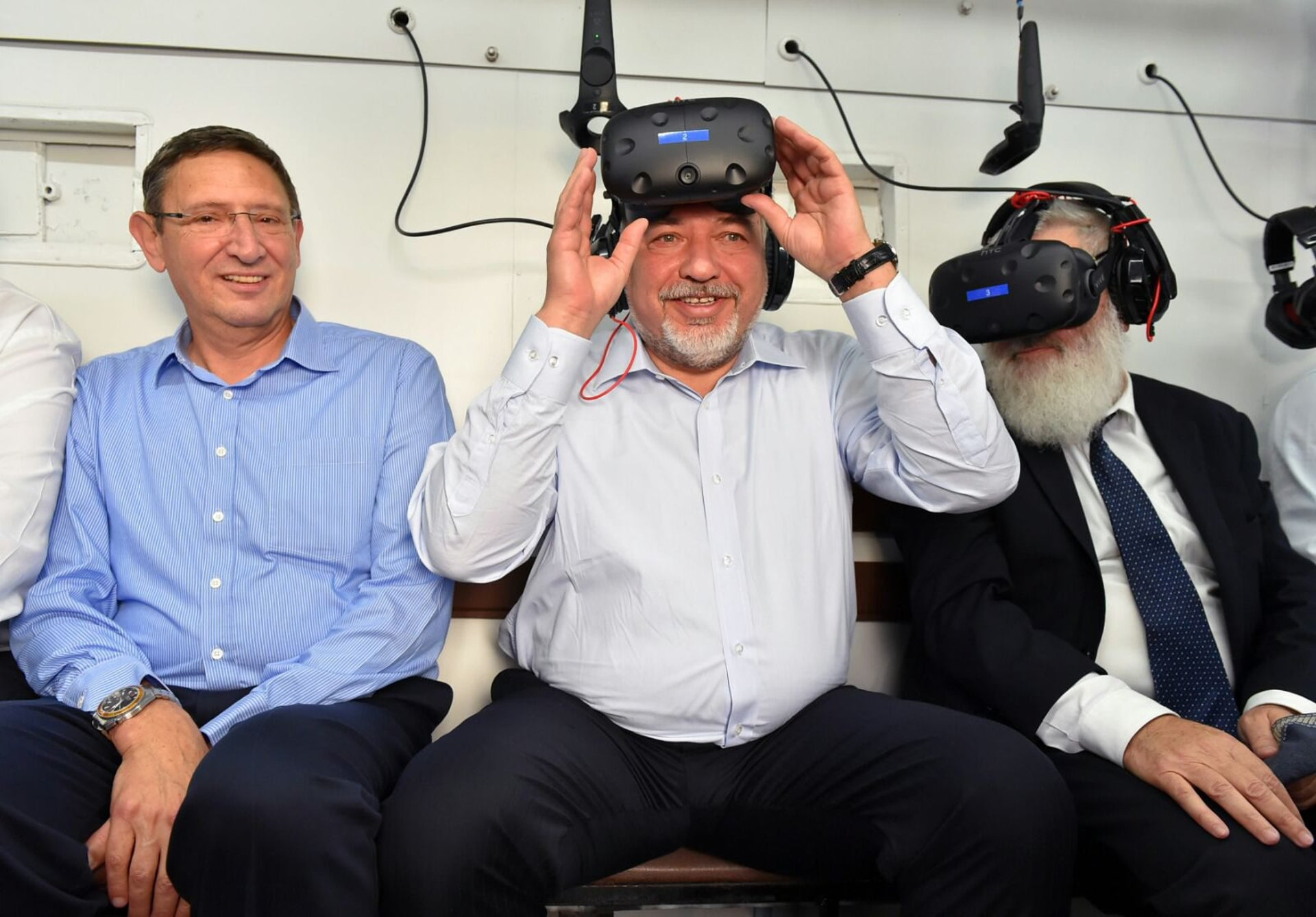 Defense Minister Avigdor Lieberman at the inauguration of a new museum, May 17, 2018.