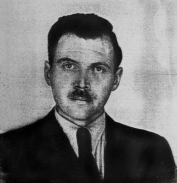 Photo of Joseph Mengele taken by a police photographer in 1956 in Buenos Aires for Mengele's Argentine identification document