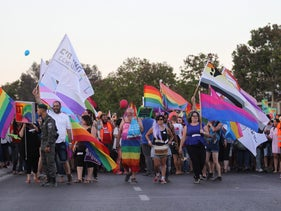 The first Gay Pride Parade in Be'er Sheva in 2017.