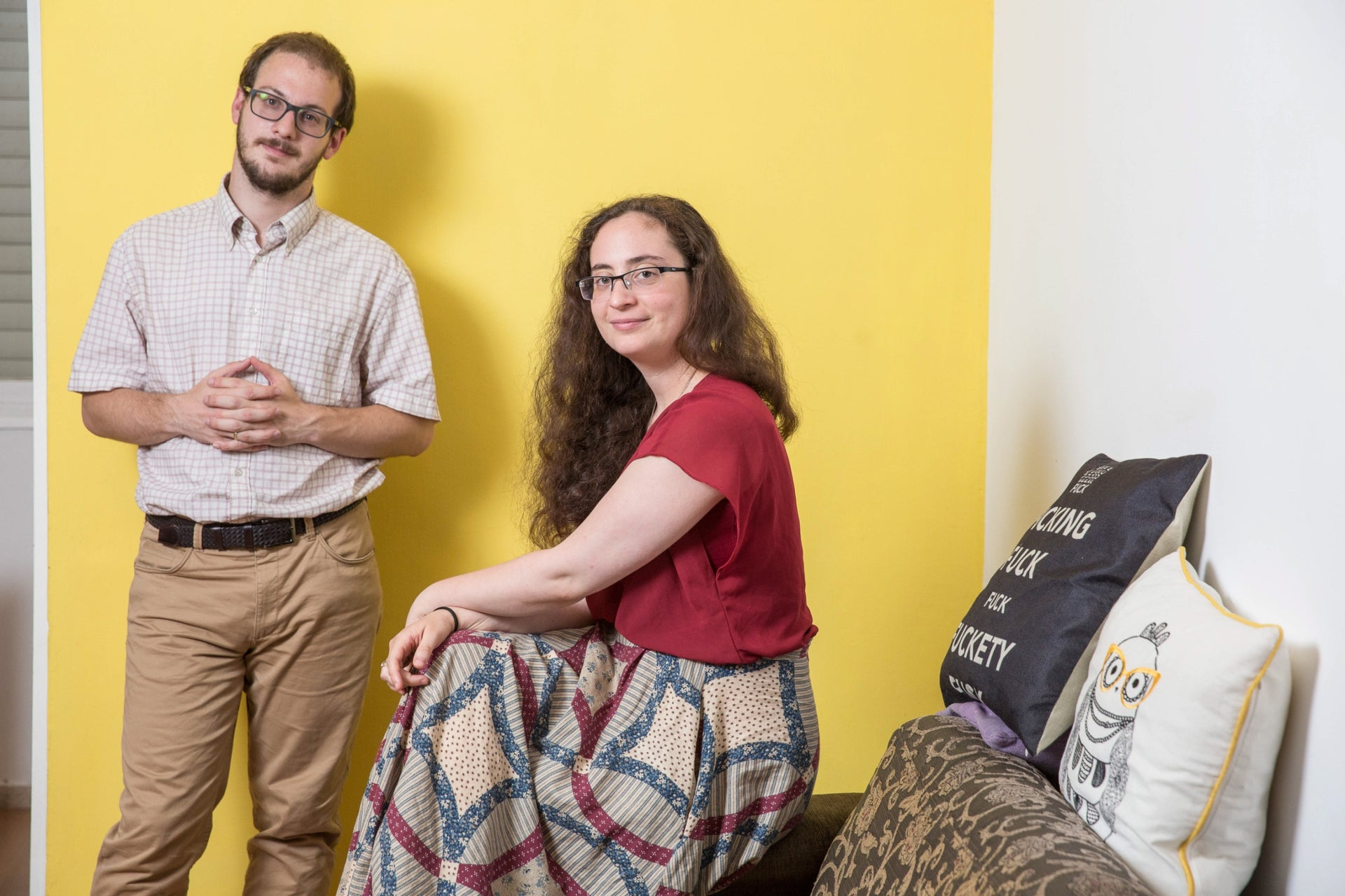 "Jonathan Howard and Lior Shapira, at home in Jerusalem. ""Even if Carlebach used music for sacred ends,"" says Howard, ""it's not something with which it's possible to sanctify God's name."""