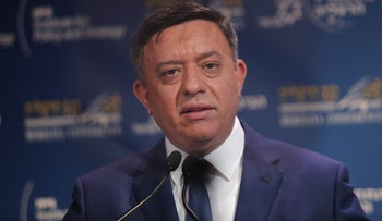Avi Gabbay in Herzeliya, May 2018