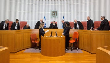 A High Court session deliberating a law to remove sitting lawmakers from office, February, 2018.